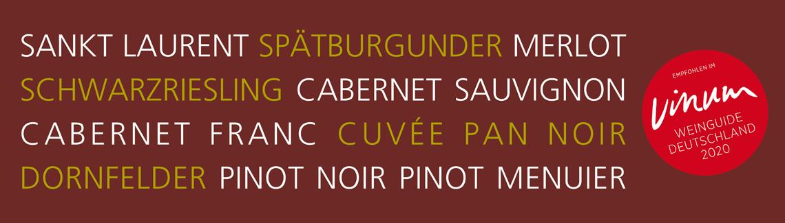 Wein-Shop Rotweine Weingut Pan Nußdorf